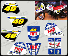 Yamaha early PW50 Rossi style graphic / decal kit Personalised FREE UK SHIPPING