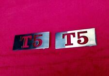 VESPA 316 MIRROR POLISHED STAINLESS STEEL T5 SIDE PANEL BADGES