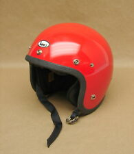 Vintage NOS 1977 Buco Open Face Red Motorcycle Helmet Childs Medium 1773-2