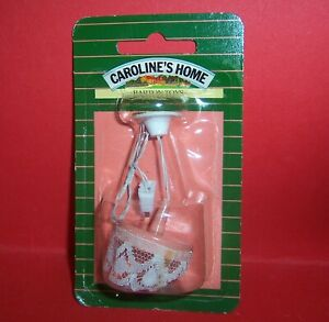 VINTAGE LUNDBY BARTON CAROLINES HOME DOLLS HOUSE LACE LIGHT LAMP MINT IN PACK