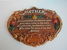 Vintage Mother Wall Hanging Collectible