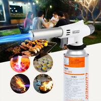 Butane Gas Blow Torch Welding Iron Soldering Lighter Flame Gun Burner White Gray