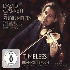 DAVID GARRETT - TIMELESS-BRAHMS & BRUCH VIOLIN CONCERTOS  CD + DVD NEW+