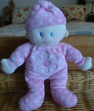 BOOTS Baby Pink Daisy Doll Soft Toy. Comforter - Birth +