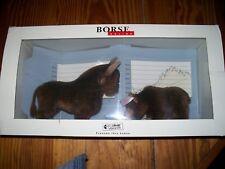 2001 Steiff Bull And Bear Bores Stock Market 995712 Rare