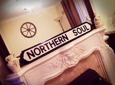 Northern Soul Old Fashion Wood Music Vintage Street Sign Motown Road Sign