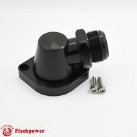 Billet Swivel Thermostat Housings Water NecK 90 AN20 LS Engine Black