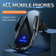 15W Qi Fast Wireless Car Charger Holder Automatic Clamping For iPhone 12 Pro XS