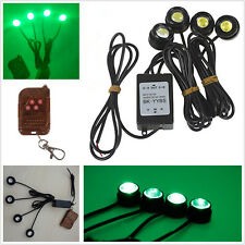Green LED Eagle Eye Car Daytime Running Strobe Grille Light DRL &Wireless Remote