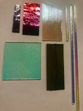 Dichroic Glass Mixed lot Coe 90 Fusing Compatible w/ Bullseye