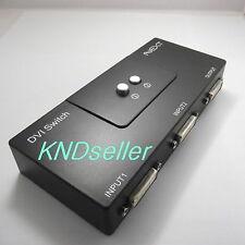 DVI 2 Port Manual Switcher Selector Switch Box Monitor single mode 1920X1080 2:1