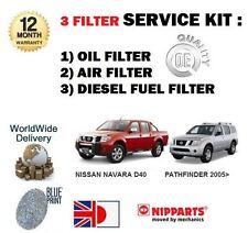 Per Nissan Navara + Pathfinder D40 2.5 2006 - & GT Olio Aria Carburante Filtro Servizio Kit