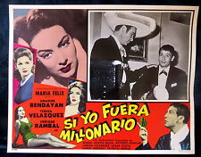 "MARIA FELIX ""SI YO FUERA MILLONARIO"" AMADOR BENDAYAN N MINT LOBBY CARD PHOTO 62"