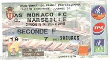 Billet  / Place  OM Olympique de Marseille -  AS monaco vs OM  ( 030 )