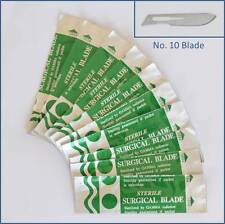 10pc Carbon Steel No. 10 Sealed Sterile Surgical Scalpel Blades for Handle #3, 5