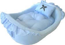 Pampered ~ Blue Princess Deluxe Soft Pet Dog Cat Bed # 2013B-946
