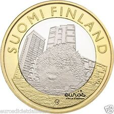 5 euros commémorative FINLANDE 2015  Animals of the provinces  Uusimaa, Hedgehog