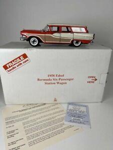 Danbury Mint 1:24 1958 Edsel Bermuda Six Passenger Station Wagon Die Cast