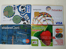 4 Expired Credit Cards For Collectors Ukraine