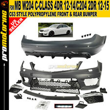 2012-2015 Mercedes Full Body Kit Front Rear Bumpers W204 C204 Fascia Cover 2D 4D