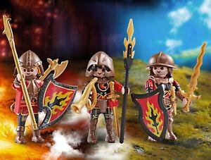 PLAYMOBIL Trois Burnham Raiders 9838 Addon Chevaliers Figurines Neuf