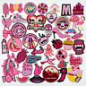 Embroidered Patches PINK Sew on Iron on Biker Patch Badges Transfers Applique