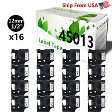 16 Pk 45013 Label Tape Compatible For Label Writer 450 Duo 400 Duo