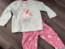 Baby Girl Pjs Fleece 9-12 Months Unicorn