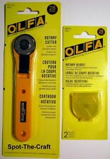 OLFA ~ 28 mm Rotary Cutter ~ Bonus of 2 Extra Blades ~ RTY-1/G   #9551