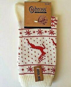 Damen Socken Weihnachtssocken Weihnachten Wollsocken / 5 Farbe / 36-40