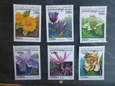 CAMBODIA 1998 FLOWERS SET 6 MINT STAMPS MUH