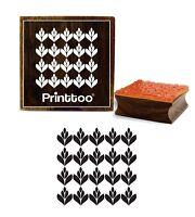 Printtoo Blatt-Muster Brown Holz Stempel Craft Textile Platz Diy Briefmarken