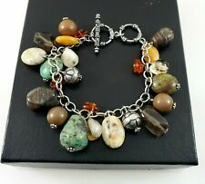 Silpada 925 Sterling Silver Gemstone Oxidized Cha Cha Bracelet B1648 RETIRED