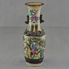 Chinese Nanking vase, decorated with war scenes – Late 19th century – N1