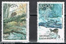 1999 Georgië 312-313 Europa CEPT Nationale parken