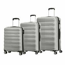 American Tourister Speedlink 3 Piece Hardside Suitcase Set in Silver