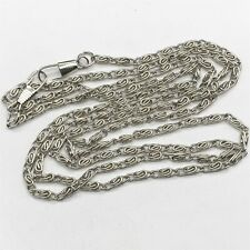 """VINTAGE SILVER METAL 48"""" MUFF LONG GUARD STYLE COSTUME JEWELERY NECKLACE"""