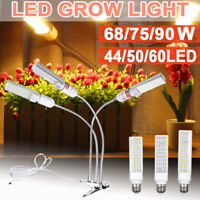 2400LM 90W 3 Head Plant LED Grow Light Growing Lamp + Clip For Indoor