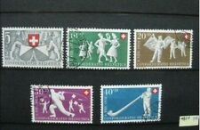 timbres Suisse 1951 folklore
