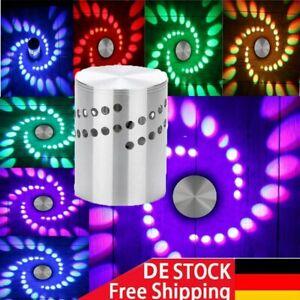 Effekt RGB 3W LED Wandleuchte Spiralen Beleuchtung Flurlampe Innenlampe DHL