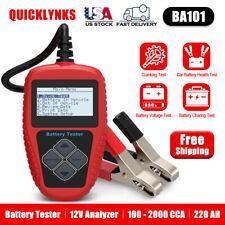 Universal BA101 12V Car Load Auto Battery Tester Analyzer 100-2000CCA 220AH