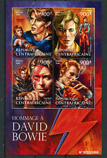 More details for central african rep 2016 mnh tribute to david bowie 4v m/s music stars stamps