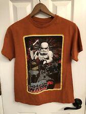 Star Wars Stormtrooper Boys Orange Cotton Blend Graphic T-Shirt XL (14-16)