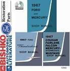 1967 Ford Mercury Shop Service Repair Manual CD Engine Drivetrain Electrical OEM