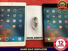 Apple iPad Mini 16GB 32GB 64GB WiFi or 4G Unlocked Black White iOS 9 - Ref 218
