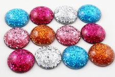 10 un. 25mm Mezclado Color Piso Nuevo Resina Cabujones | Brillo Mezcla