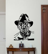 Freddy Krueger Wall Decal Movie Maniac Vinyl Sticker Print Poster Mural 239hor