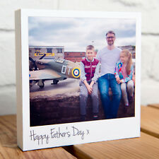 PERSONALISED FATHER'S DAY 5x5 INCH POLAROID 3D PHOTO BLOCK - ADD YOUR OWN TEXT