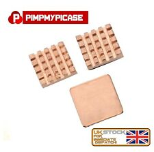 Raspberry Pi 2/3 Premium 3 x Copper Heat Sink With 3M Thermal Cooling UK Stock