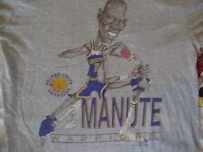 Vintage NBA Golden State Warriors MANUTE BOL Caricature Cartoon RARE T shirt M